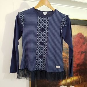 💙🐦Blue Tone Multi pattern shirt